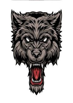 Metal Poster Abstract Wolf
