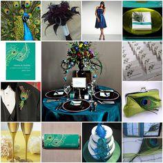 peacock wedding color palette | Peacock Wedding Invitations
