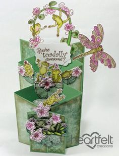 Heartfelt Creations aus USA EXCLUSIVE HEARTFELT aus den USA! Stempel Set: Froggy Hangout - Hobby, Crafts and Paperdesign