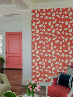 obviously different color, but love the pattern  Awesome and artistic vinyl material self-adhesive temporary wallpaper, easy to use!    Peel it, Stick it and LOVE it!    Add to your room personalised