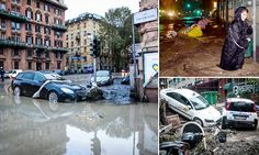 Outrage in Italy over 'shame' of Genoa flood chaos