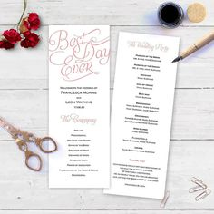 This budget friendly Microsoft Word 2010 - higher wedding program template lets…