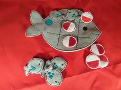 Fish Tic Tac Toe by HandiCraftHodgePodge on Etsy