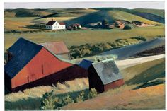Cobb's Barns and Distant Houses, 1930-1933  Whitney Museum of American Art