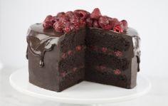 Triple Layer Chocolate Raspberry Cake
