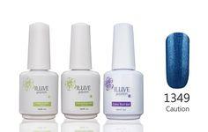 iLuve Long Lasting Soak Off UV Nail Polish, 3 Bottles(45ml) Set Including 3x 15ml Gel Polish BT Set: 1x Color-1349,1x Top Coat,1x Base Coat with 238 Other Colors Available -- Visit the image link more details.