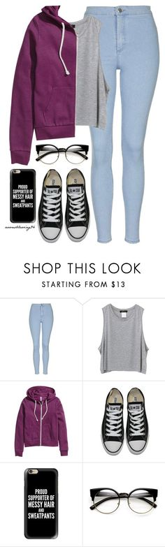 """For Colder Days"" by avonsblessing94 ❤ liked on Polyvore featuring Topshop, H&M, Converse, Casetify and ZeroUV"