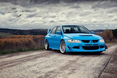 Widebody Mitsubishi Evolution EVO 8 on SSR SP3 wheels