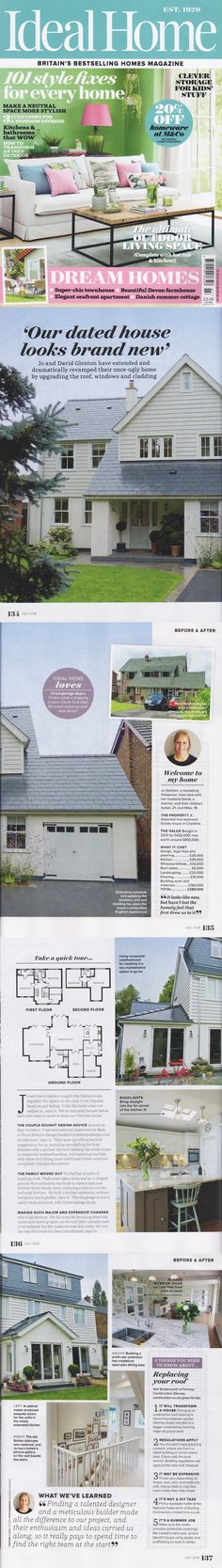 "Ideal Home July 2018 ""Our dated house looks brand new""  New England Dream Home"
