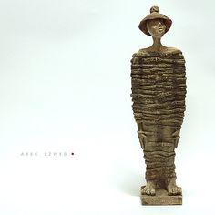 The Tied/Ceramic Sculpture/ Unique Ceramic Figurine by arekszwed on Etsy