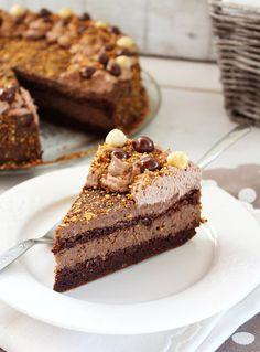 Jekin kapric : Čoko lešnik torta Torte Cake, Tiramisu, Recipies, Pudding, Sweets, Cooking, Ethnic Recipes, Desserts, Cakes