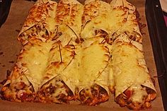 Mexikanische Burritos, ein sehr schönes Rezept aus der Kategorie Gemüse. Bewertungen: 113. Durchschnitt: Ø 4,5.