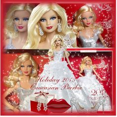 Holiday 2013 Caucasian Barbie by melindairenes on Polyvore featuring Quiz and Lulu Guinness