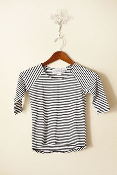 Black on White Pinstripe Tunic