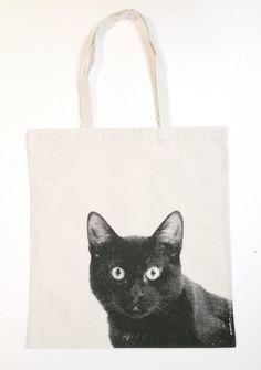 #tote #bag #black #cat