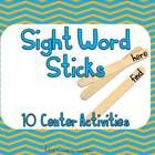 This sight word stick packet includes 10 games and recording sheets.  Students will draw sticks out of a cup/can/or container to play literacy game...