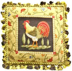 Ferdinand the Rooster Pillow left - ThrowMeAPillow