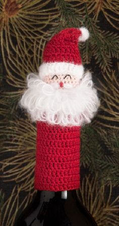 Lantern Moon Handcrafted Wine Bottle Topper - Santa Claus