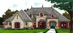 Country European French Country House Plan 66291