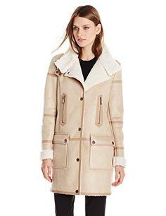 T Tahari Women's Angie Faux-Shearling Jacket