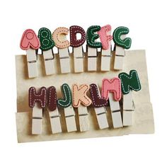 Set of 14: A-Z Letters Wooden Peg  from #YesStyle <3 ioishop YesStyle.com