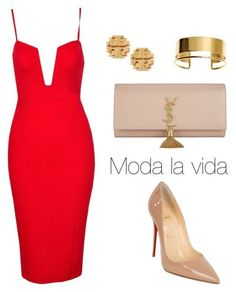 """""""Prom style!"""" by sebolita ❤ liked on Polyvore featuring Christian Louboutin, Yves Saint Laurent, Tory Burch, By Malene Birger, women's clothing, women, female, woman, misses and juniors"""