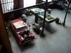 Garage Diorama 1/25 scratch kit by Marc-Antoine