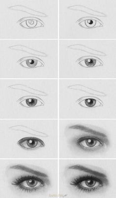 to draw a realistic eye Tutorial: How to Draw Realistic Eyes Learn how to draw a realistic eye step by step. MoreTutorial: How to Draw Realistic Eyes Learn how to draw a realistic eye step by step. Pencil Art Drawings, Art Drawings Sketches, Easy Drawings, Drawing Faces, Drawing Portraits, How To Draw Portraits, Drawing People Faces, Sketches Of Eyes, Human Face Drawing