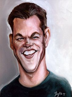 Matt Damon Caricature    Niall O'Loughlin is famous in Ireland for his Caricatures and you can see why.