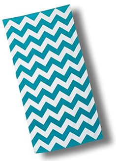 "Custom & Luxurious {30"" x 60"" Inch} 1 Single Large & Thin Soft Summer Beach & Bath Towels Made of Quick-Dry Cotton w/ Bold Wide Chevron Stripe Turquoise Lounging Vacation Souvenir Style [Multicolor]"
