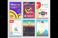 Infographic Business Brochures by robuart on Creative Market