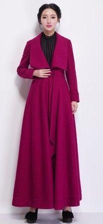 Aliexpress.com: Acheter 2015 automne hiver femme laine manteau ultra long manteau plus la taille manteau de laine mince grande revers épais laine manteaux veste chaude de laine femme fiables fournisseurs sur Fashion Lady Lau.
