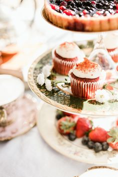 Add small flowers for decor when plating your tea food for a delicate touch. Small Flowers, High Tea, Mini Cupcakes, Tea Party, Plating, Cheesecake, Delicate, Wellness, Touch