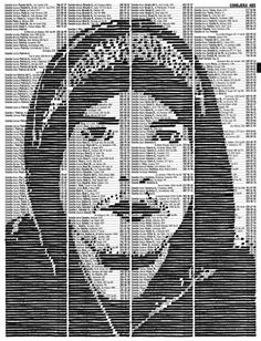 Incredible Ink Portraits on Phone Book Pages