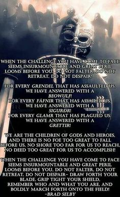 Most memorable quotes from Havamal, a book based on novel. Find important Havamal Quotes from book. Havamal Quotes about Warrior, Viking and Odin spear. Viking Life, Viking Warrior, Warrior Spirit, Warrior Quotes, Norse Pagan, Norse Mythology, Viking Quotes, Pagan Quotes, Book Quotes