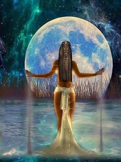 """Ix Chel - Mayan Goddess of the Moon. As an ancient fertility goddess, Ix-Chel was responsible for sending rain to nourish the crops. When fulfilling that function she was called """"Lady Rainbow"""". She helped insure fertility by overturning her sacred womb jar so that the waters would flow."""