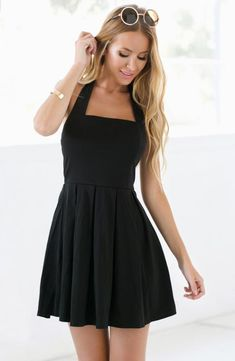 Black prom dresses including simple sexy black evening cocktail party and homecoming dresses for formal evening events up to plus sizes.We've rounded up 47 of our favorite styles that will stand out at prom! Simple Homecoming Dresses, Grad Dresses Short, Hoco Dresses, Pretty Dresses, Sexy Dresses, Beautiful Dresses, Fashion Dresses, Short Prom, Homecoming Dance
