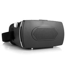 15dc9d5dd iCanany VR 3D Glasses 3D Cinema Glasses Head Mount for Smartphone  BlackWhite ** More info