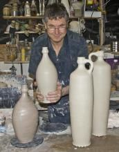 Bruce Gholson, potter and artist, on exhibit at Hill Center