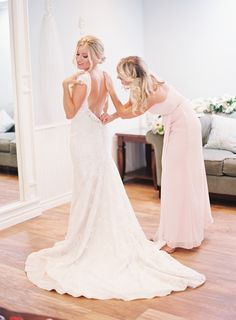 Finishing touches: http://www.stylemepretty.com/2016/06/15/a-wedding-thats-pink-mint-and-pretty-all-over/ | Photography: Sposto Photography - http://spostophotography.com/