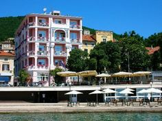 View of the hotel Mozart, Opatija, Croatia