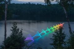 Using long exposure photography to create light drawings is not a new process, but this technique is being used in an innovative way by Canadian photographer Stephen Orlando. He is using it to capture the motion patterns behind different water sports. From kayaking, to canoeing, to swimming, the movement patterns are each unique, creating a line drawing that is reminiscent of cursive handwriting. Adding an additional dimension to the light drawings, Orlando uses programmable LED light sticks…