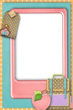 Back to School - Larry Derose - Picasa Web Albums Scrapbook Frames, School Scrapbook, Borders For Paper, Borders And Frames, School Border, Page Borders Design, School Frame, Cute Frames, School Clipart