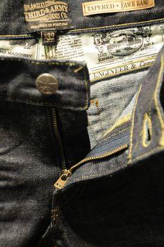 3rd & army mens denim jeans