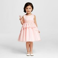 Katie M. Toddler Girls' Sleeveless Beaded Dress - Pink