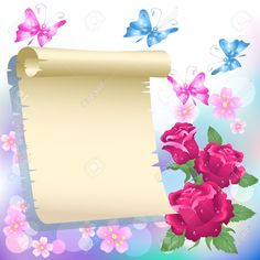 Bordes Con Flores Imágenes De Archivo, Vectores, Bordes Con Flores ...