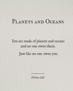 Planets and oceans
