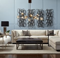 SAVOY CHANDELIER ANTIQUE BRASS SMOKE GLASS<BR>[available online and in stores]