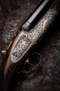 Just take a moment to admire the beautiful glossy blued finish on the barrel. The absolute seamless hand fitted stock to receiver fit. To top it off with incredible hand engraving. A true work of art! Weapons Guns, Guns And Ammo, Gun Art, Shooting Guns, Custom Guns, Fire Powers, Hunting Rifles, Firearms, Shotguns