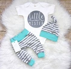 Coming Home Baby Boy Outfit Newborn Boy Clothes Aqua Grey Stripes Baby Boy Leggings Top knot Hat Baby Shower Gift by LLPreciousCreations on Etsy Baby Boys, Newborn Baby Boy Gifts, Newborn Boy Clothes, Cute Baby Clothes, Kids Girls, Newborn Boys, Babies Clothes, Carters Baby, Baby Gap
